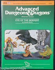 UK5 ojo de la serpiente Advanced Dungeons & Dragons Aventura módulo D&D RPG 9125