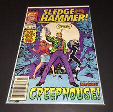 ☆☆ Sledge Hammer #1 ☆☆ High Grade* 1988 Marvel  Bag & Board News Stand Variant