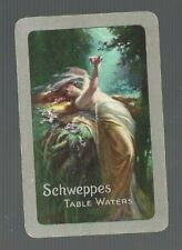 Swap Playing Cards 1 VINT U.K.ADVT SCHWEPPES' TABLE WATERS DRAPED LADY ART  D178