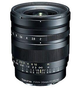 Tokina Lens FiRIN 20 mm F2 FE MF Full Size Manual Focus for Sony aE New in Box