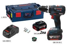 Bosch GSB 18V-60 C Professional Drill 2x5ah 18V 13mm LED KickBack ECP EMP / UPS