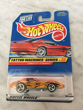 Hot Wheels TATOO MACHINES Series CORVETTE STINGRAY #4 Of 4 Cars (Mattel,1997)NEW