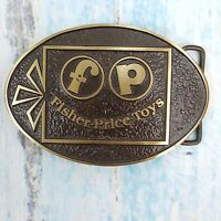 vtg Fisher Price Toys Solid Bronze Belt Buckle Advanced Casting Albuquerque NM