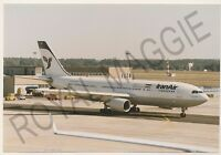 Colour print of Iran Air Airbus A300 EP-IBB at Frankfurt in 1997