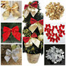 12PCS Large Bows Bowknot Christmas Tree Party Gift Present Xmas Decorations UK