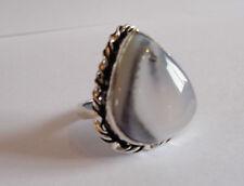 Handgefertigt Echte Edelstein-Ringe aus Sterlingsilber mit Opal