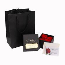 4 Echte Rot Rosen Konservierte Rosenbox Blumenbox MIT GRAVUR Geburtstag Geschenk