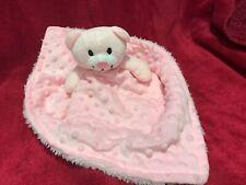 Baby comforter pink teddy plush blankie