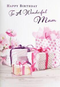 "Traditional Classy Flowers & Presents ""WONDERFUL MAM"" Birthday Card"
