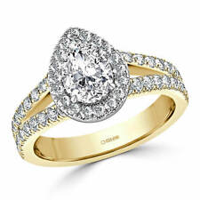 2.00 Ct Pear Cut Diamond Solitaire Engagement Ring 14K Solid Yellow Gold Size O
