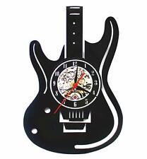 LED Wall Lights, Night Light, Wall Lamp, Musical Guitar Led Vinyl Wall Clock C..