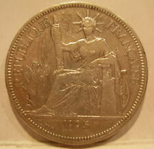 French Indo - China 1895A Silver Piastre Circulated