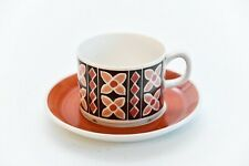 RARE Gefle Sweden FJARIL Coffee Cup & Saucer - 1970s