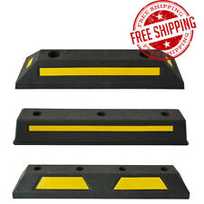 Heavy Duty Wheel Stop Parking Safety Reflective Function Car Block With Screws