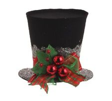 "RAZ Imports Holiday 5"" Holly Black Top Hat 3119042"
