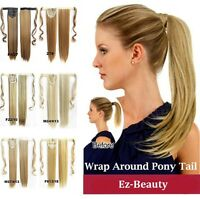 "22"" Clip In Ponytail Pony Tail Hair Extensions Wrap On Hair Piece Straight Style"