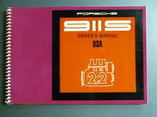 1969 Porsche 911-S Factory Owner's Manual Driver's Manual English RARE!! Awesome