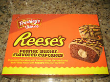 (12)- Mrs. Freshley's Deluxe Reese's Peanut Butter Cupcakes, Factory Sealed Box