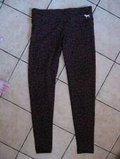 PINK maroon red leopard animal print leggings S