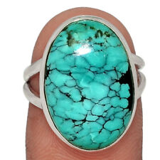 Natural Tibetan Turquoise 925 Sterling Silver Ring Jewelry s.6 AR122863