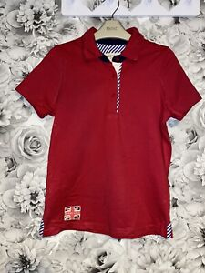Girls Age 9-10 Years - Harry Hall Equestrian Summer Polo Top - Excellent Con
