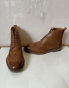 Kurt Geiger Comfy Brogue Leather Boots Size UK 8 EU 42