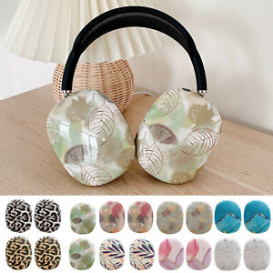 Floral Marble Colorful Silicone Case for Apple AirPods Max Protect Cover Holder