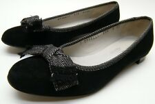 WOMENS SALVATORE FERRAGAMO SUEDE LEATHER BOW LOW HEEL FLATS SHOES SZ 6.5~1/2 AA