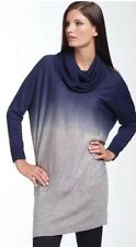 NWT BCBG Max Azria Ombre Cowl Neck Sweater dress M wool Career Casual Blue Gray