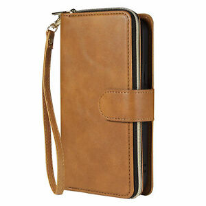Zipper Leather Card Wallet Phone Case For iPhone 13 12 11 Pro Max XS XR 678 Plus