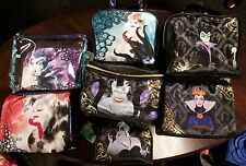 Disney SOHO Villains maleficent cruella evil queen ursula Cosmetic Bag lot of 7
