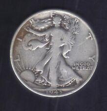 1943 USA WALKING LIBERTY COMMERATIVE 900 SILVER HALF DOLLAR Coin