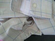 Women's LL BEAN Cotton/Poly BEIGE W/BLUE/RED Check LS Button Down Shirt 10?