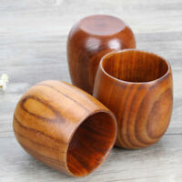 2PCS Simple Lightweight Wooden Sake Cup Wine Cup Water Holder Container for Home