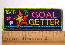 "Girl Scout 2015-2016 COOKIE ""GOAL GETTER"" SALES PATCH -DREAM DESIGN DO! Badge"