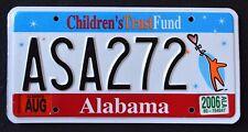 """ALABAMA """" CHILDREN`S TRUST FUND - KIDS ASA 272 """" 2006 AL Specialty icense Plate"""