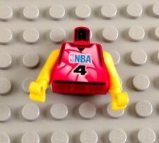 LEGO Minifigure Torso 344 WHITE Sports Shirt with Number 39 Orange Basketball