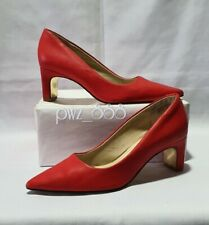 COACH Red Leather Heels Pumps Shoes Size 37