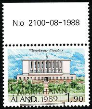 Aland Finland 1989 Used Stamp - Mariehamn City Hall - First Day Cancel