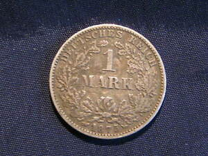 orig. old German  silver coin 1875G