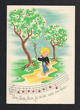 CHANSON ENFANTINE / AU BOIS / illustrée par BARDAY (BARRE-DAYEZ)