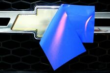 Chevy Vinyl Sheet x2 fits Chevy Bowtie Emblem Logo Azure Blue Decals U-CUT Trim