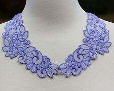 "Purple Lace Peter Pan Collar Vintage 1990's SEW ON Applique TWO 7"" Pieces NEW"