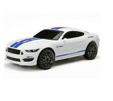 New Bright 61222W-3H Remote Control Ford Shelby GT350 White & Blue RC Car