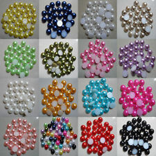 2000Pcs Half Round Bead Flat Back Acrylic Pearl Scrapbooking Craft 2-8MM
