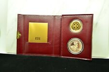 1987 BELGIUM ECU GOLD / SILVER TWO COIN PROOF SET CHARLES V. TREATY OF ROME OGP
