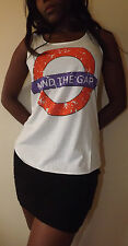 MIND THE GAP T-Shirt Vest Tank TOP Ladies Girls New TSHIRT LONDON UNDERGROUND