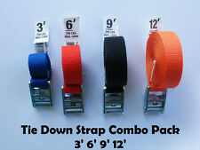 Tie Down and Cargo Straps – Combo Pack