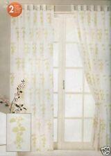 Schlaufenschal Schlaufengardine 2x 140 x 245cm Blickdicht Gardine Blätterdesign