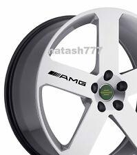 4 - AMG Decal Sticker  wheels rims Mercedes Benz Sport Racinig emblem logo BLACK